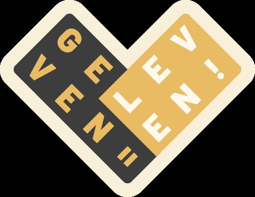Logo met tekst Geven is leven