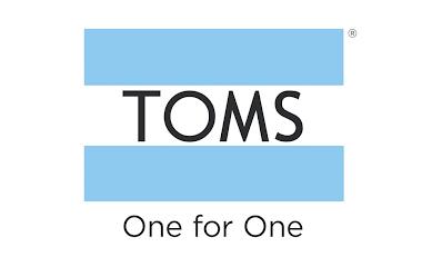 geef met shoppen logo toms