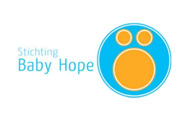 Geef spullen logo stichting baby hope