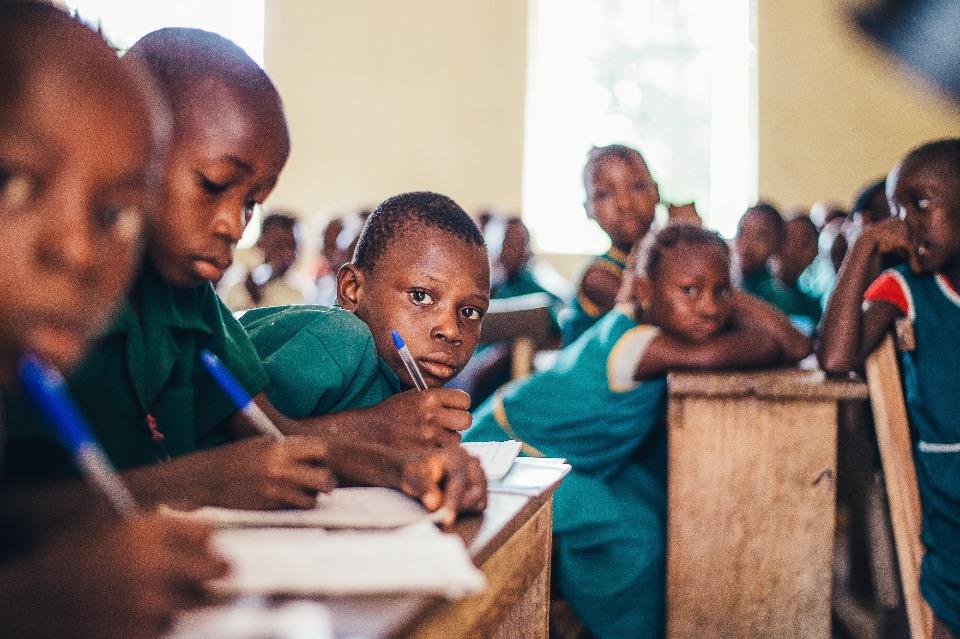 Schoolkinderen Sierra Leone